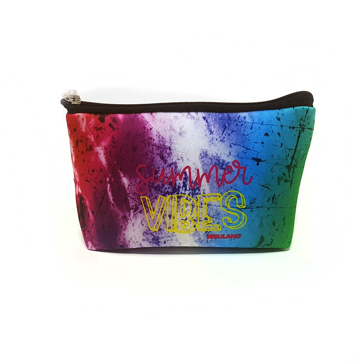 CARTUCHERA SIMPLE SIMIL NEOPREN / NECESER - BATIK MULTICOLOR