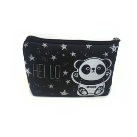 CARTUCHERA SIMPLE SIMIL NEOPREN - PANDA HELLO